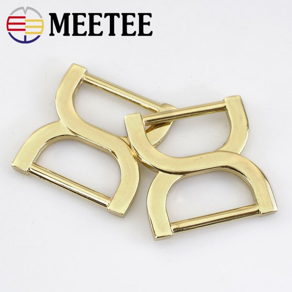 Metal Buckle Gold 2.5cm Square Adjustment Buckle Connection Ring Shoes Bags Garment Buckles DIY Accessory Sewing F1-2