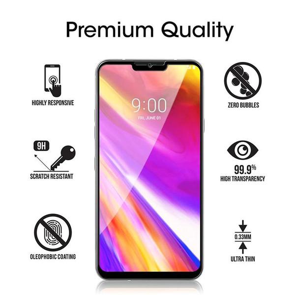 For LG G7 aristo 2 Xpower K30 Plus Stylo 4 3 Google pixel 2 XL Full Cover Flim 2.5D Tempered Glass Screen Protector For LG V20 V30 G5 G6 K20
