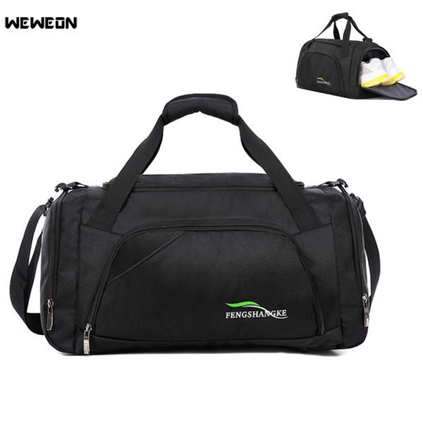 Men Light Training Gym Sports Bag Outdoor Waterproof Fitness Shoulder Bag  With Shoes Storage Pocket Women 913e6d2cc3662