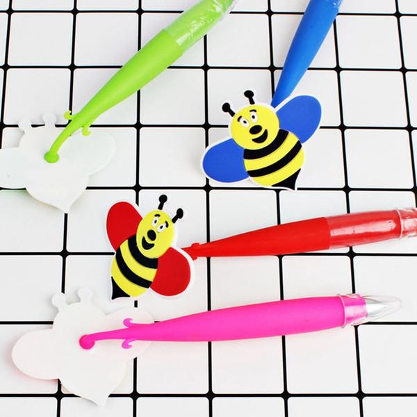 1 Pcs Cute Bee Stitch Ballpoint Pen Kawaii Cartoon Writing Ball Pens Office School Supplies Gift for Kids