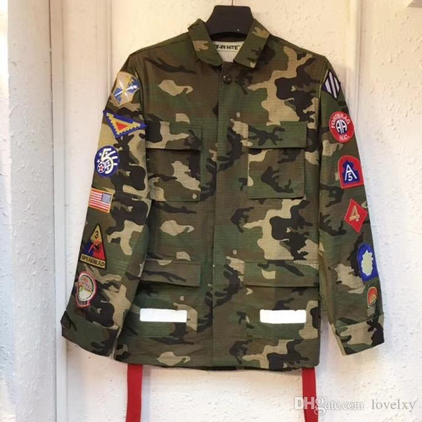 Men's and women's shirt jacket camouflage medal ribbons universal arrow uniforms men and women couple military jacket