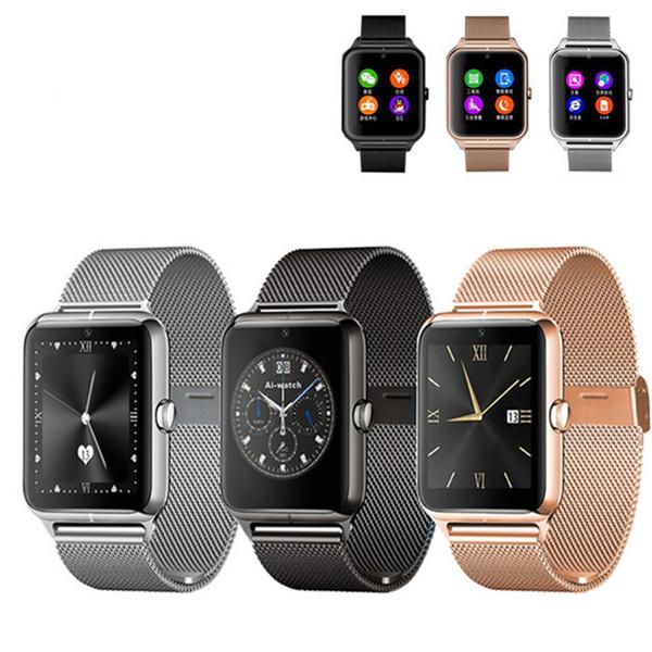 2016 Bluetooth Smart Watch Z50 con tarjeta SIM de frecuencia cardíaca TF mp3 mp4 compatible con teléfonos Android con caja de venta minorista