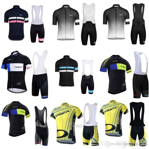 2018 RAPHA ORBEA men Cycling Jersey 100% Polyester Summer Short Sleeves bib  shorts set Cycling b703011d0