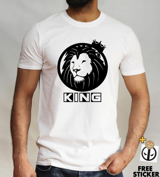 Lion King of the jungle T-shirt, Alpha, Crown, Cool unique tee fashion Novelty
