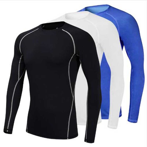 Yuerlian Wicking Compression Tights Blouse Men'S Sportswear Fitness Gym Train Sport Suit Running Yoga Demix Bodybuilding T-Shirt