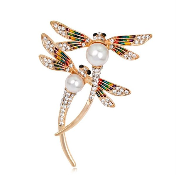New Fashion Personality Dragonfly Brooch Fashion Insect Brooch Clothing Accessories Gift For Women and Men YP3247