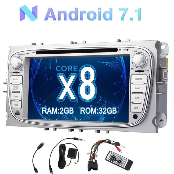 Eincar Android OCTA Core 7'' Car Stereo Double Din GPS car DVD Player for Ford Focus In Dash Navigation Headunit multi Radio/Bluetoot