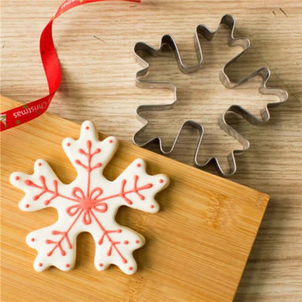 Snowflake Biscuit Pastry Cookie Cutter Stainless Steel Cake Decor Mold Tool free shipping