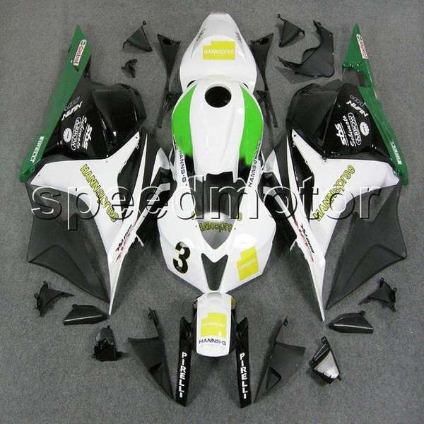 colors+Gifts Injection mold green yellow white motorcycle Fairing for HONDA 2009 2010 2011 2012 CBR600RR 09-12 CBR600 F5 ABS plastic kit