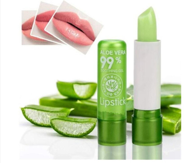top popular 1PC Aloe Vera lip balm Lipstick Color Mood Changing Long Lasting Moisturizing Lip Stick Cosmetic Maquiagem 2021