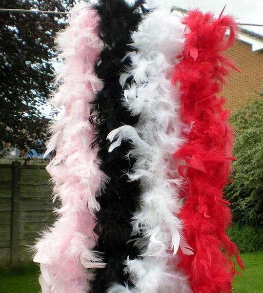 Boa de plumas 200 cm burlesque showgirl gallina noche disfraz fiesta de baile traje accesorio de la boda decoración de bricolaje 17colors