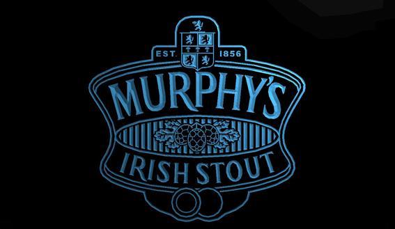 LS794-b-Murphy İrlandalı Stout Bar Ale 3D LED Neon Işık Burcu Talep üzerine özelleştirmek 8 renk seçmek için