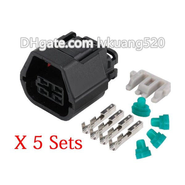 5 Sets DJ7045A-1.2-21 Female Automotive Waterproof Connector Housing 0509 Series 4 Pin Plug MG641238-5