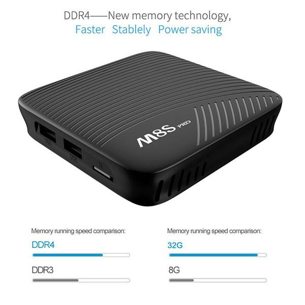 Genuine MECOOL M8S PRO Android 7.1 3G/32G Smart TV Box Amlogic S912 64 bit Octa Core UHD 4K BT 4.1 2.4G/5G WiFi Set top Box 2018 New hot