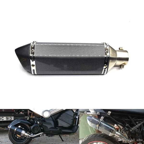 For 51mm Universal Motorcycle Exhaust Pipe Muffler Racing System Escape Motorcycle ATV Scooter KTM Pit Bike For YAMAHA nmax FZ6 CB400