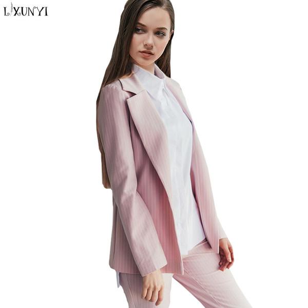 Preis bleibt stabil heißer verkauf rabatt Outlet-Verkauf Großhandel LXUNYI Herbst Frauen Hosenanzug Rosa Casual Büro ...