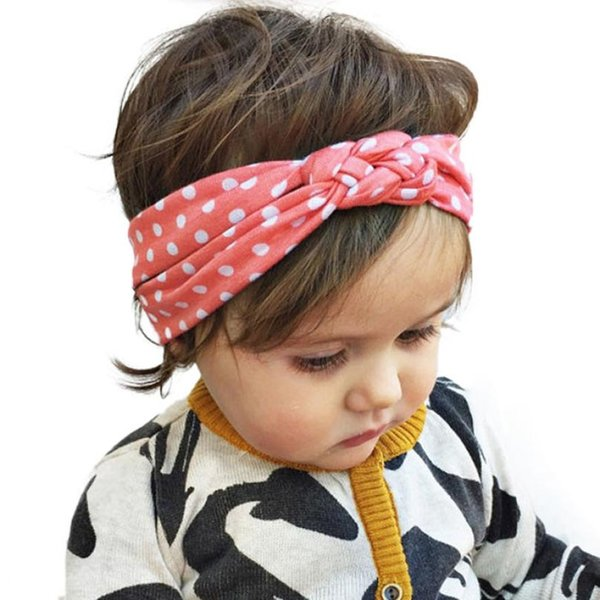 Hot selling Dot Cross Children Weave Twist Headband Baby Hair Accessories Lowest Price sandalia infantil baby girl headbands