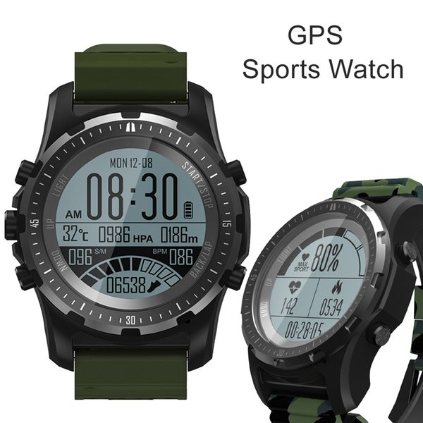 S966 Sports GPS Hiking Smart Watch with Heart Rate Monitor Wristwatch Monitor Bluetooth 4.0 Smartwatch for Android IOS Phone