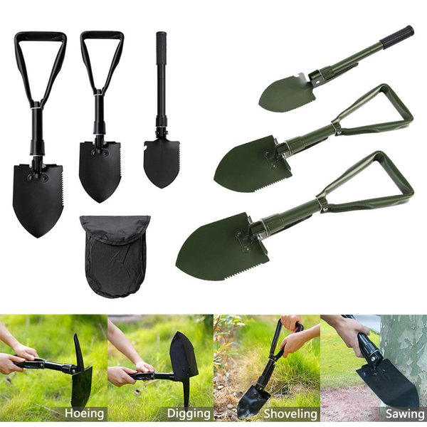 Folding Camping Shovel Survival Spade Trowel Garden Outdoor Tool for Camping Hiking Backpacking Fishing Garden Tools GGA866