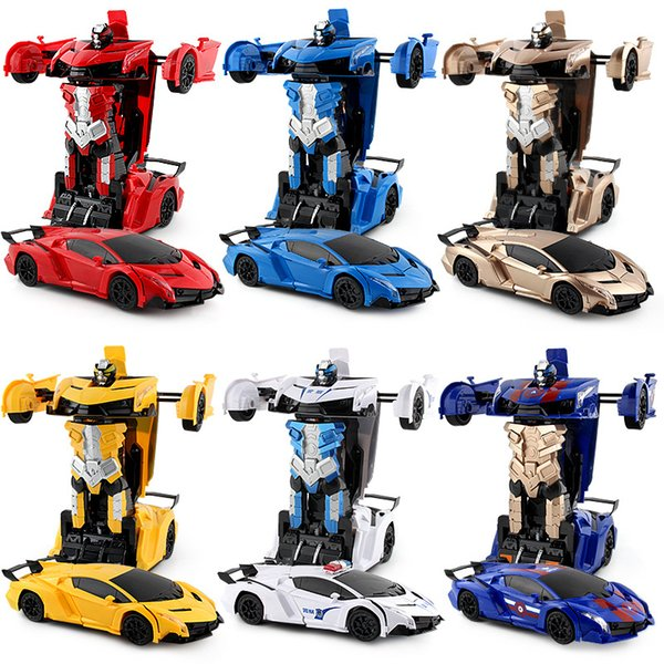 1:12 Remote Control Car Transformerring Robot 2.4G 4WD Wheels Drive Off-Road RC Car 4WD battery-powered Climbing Car RTR Toy for Children