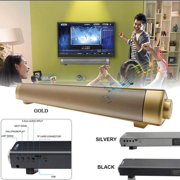 Alta calidad LP-08 Barra de sonido Subwoof Bluetooth Altavoces de columna Control remoto mejorado TV Barra de sonido Tarjeta de altavoz Conexión