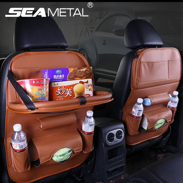torage seat Car Folding Table Bag Organizer Back Seat Storage Phone Pad Holder Travel Stowing Tidying Boxes Pocket In Automobile Accessoi...