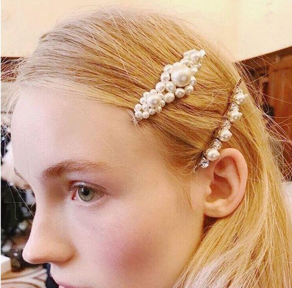 Women Wedding Bridal Pearl Hair Clips Handmade Floral Hair Pin Girl's Fashion Hair Accessories