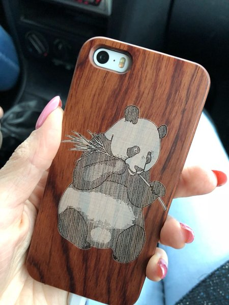 laser engrave wood cell phone cases for iPhone 6/6s
