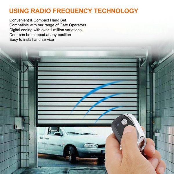 10PCS Wireless Universal Remote Control Electric Cloning Universal Car Gate Garage Door Remote Control Key Fob Black