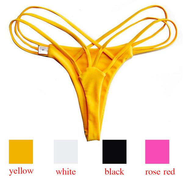 2018 Sexy Donna Bikini Bottoms Costumi da bagno Costumi da bagno Costumi da bagno Donna mayo Abbigliamento da spiaggia Slip a vita bassa da donna Cut Out Tanga