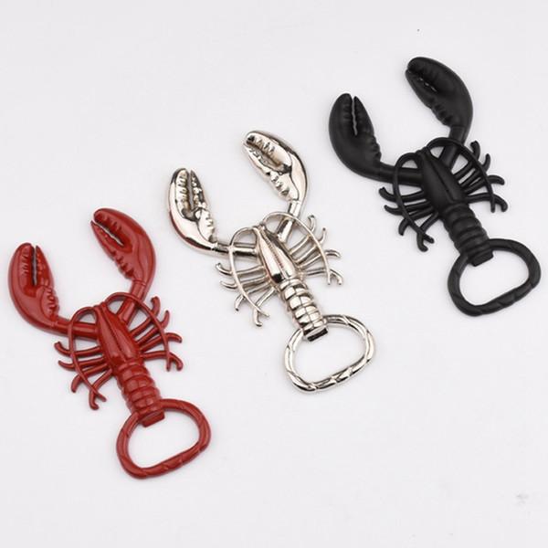 Lobster Opener Küchengeräte Kreative Restaurant Bar Förderung Geschenke Schlüsselanhänger Outdoor Camping Männer Mode Schlüsselanhänger Großhandel 3 farben