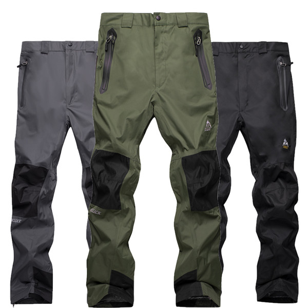 Winter snowboard pants men outdoor mountaineering riding warm fleece trousers windproof waterproof double ski pants men black