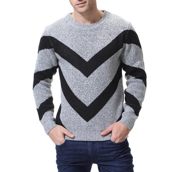En el otoño de 2018, la nueva camisa base de suéter de color para hombre es británica, con cuello redondo, suéter de caballero, pull homme