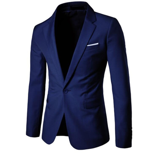 Men Wedding Jackets Suit Male Blazers Slim Fit One Button Costume Business Casual Formal Party Classic coat big size S-5XL 6XL S18101902