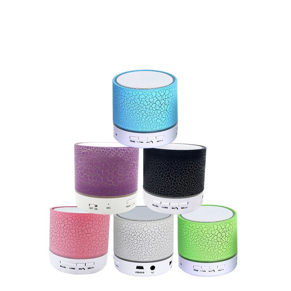 A9 Bluetooth Speaker Outdoor Speakers Handfree Mic Stereo LED Portable Speakers TF Card Call Function No Logo In Retail Box DHL Free