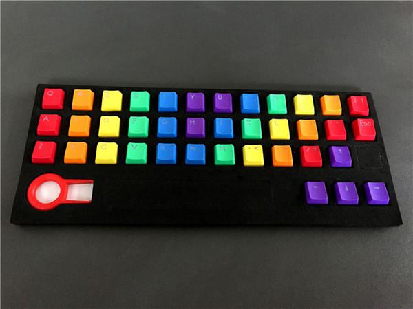Новое прибытие PBT 37 ключ двойной выстрел Радуга OEM MX переключатели колпачки подсветки клавиш для проводной USB механическая клавиатура