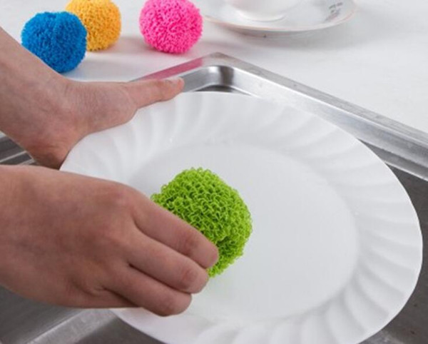 Color cleaning ball does not hurt the coating electric rice cooker special kitchen decontamination cleaning brush single package