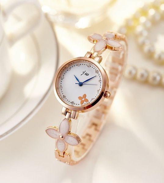 Top orologio da polso orologi delle donne è aumentato orologi da donna orologio d'oro di diamanti signore orologio Reloj mujer