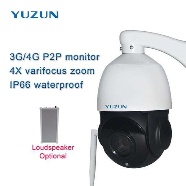 3g 4g sim card ip camera wireless security outdoor speed dome ptz camera AP WiFi hotspot 4x zoom p2pmonitor cctv camera night vision