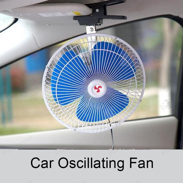 Ventilatore di raffreddamento ad aria elettrico di alta qualità da 6 pollici 12V Mini a basso rumore 25W veicolo portatile Auto Auto Oscillante ventilatore automatico