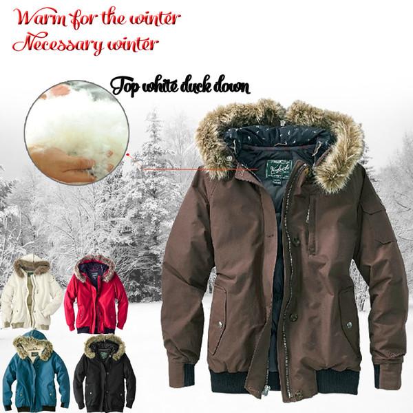 top fashion 373f8 bfb37 Großhandel 2018 Brand New Woolrich Abnehmbare Waschbären Pelz Herren Arctic  Daunenparka Warme Jacke Dicken Outdoor Wintermantel Von Factory_store_1, ...