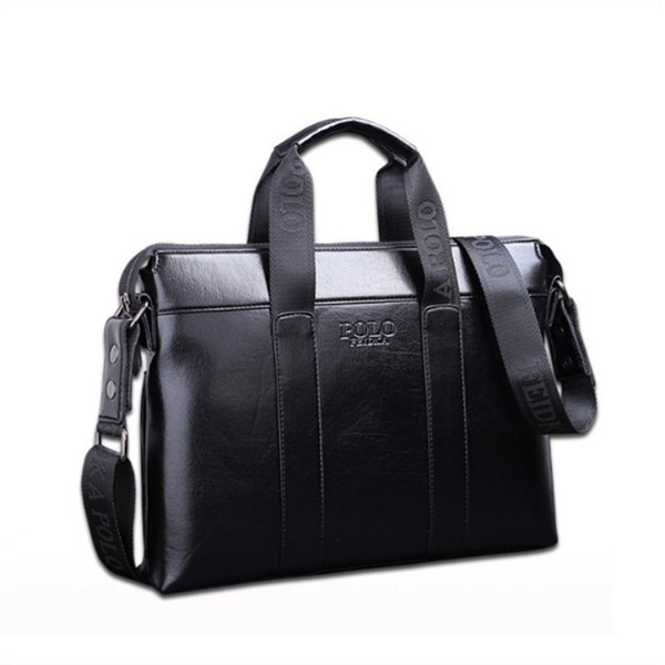 2018 Famosa Marca Designer Maleta Simples Pasta de Couro Dos Homens Sólidos Grande Homem de Negócios Saco de Laptop Bag Messenger Bag para Homens