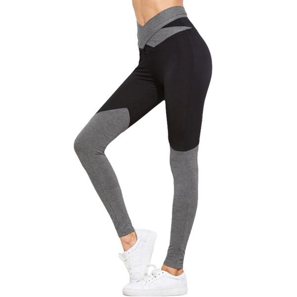Alta Qualidade Cinta Preta Largas Calças de Yoga para As Mulheres Aptidão Execução Calças Justas de Fitness Esporte Push Up Cruz de Volta Yoga Leggings