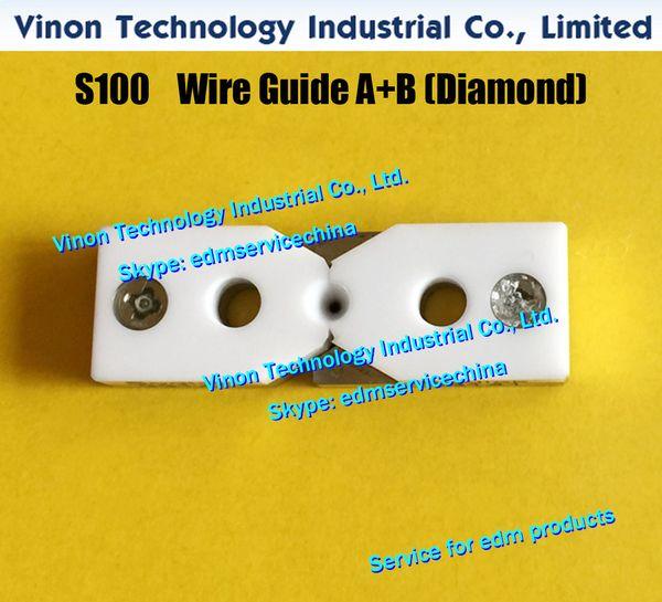 d=0.21mm S100 edm Wire Guide A+B Diamond 3081436, Upper Split Wire Guide AB 0.21mm 0204451 for AQ,A,EPOC,A320D,A325,J13102A wire cut machine