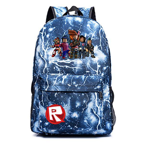Roblox Yeni Flaş Sırt Çantası Öğrenci okul çantaları genç kızlar ve Erkekler için Geri Okul Çantaları schoolbag bagpack Okul Çantaları H206