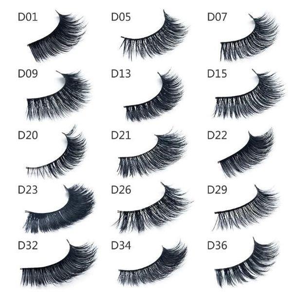 15 Stilleri 3D Vizon Kirpikleri Kalın Vizon Saç Yanlış Kirpik Güzellik Makyaj Uzatma için Doğal Sahte Kirpikler Yanlış Lashes CCA8503 60 adet
