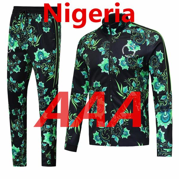 d55a8275aa187 Nuevo 2018 Nigeria Chándal Traje de entrenamiento de fútbol Pantalones  suéter Conjunto Fútbol Cremallera Chaqueta Sudadera