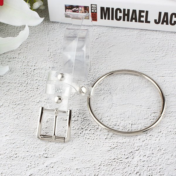 With Rivet Round Hanging Ring Belts For Women Clear Plastic Width Belt Creative Pin Buckle Waistband Factory Direct Sale 4 5sh BB