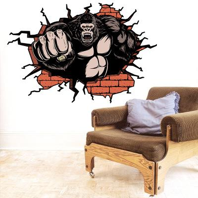 Strong Orangutan Wall Sticker Wallpaper Wall Picture Art Vintage Room Home Decor Kitchen Accessories Household Craft Suppllies