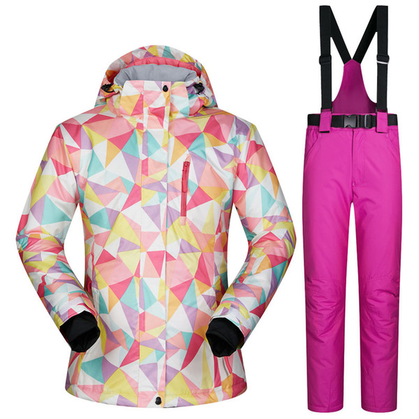 Outdoor Ski Suits Women Winter Female Skiing Snowboard Sets Windproof Waterproof Breathable Outdoor Coat Sports Jackets and Pants